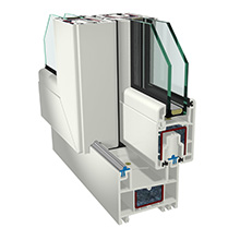 Le système des profilés pour portes et fenêtres coulissantes