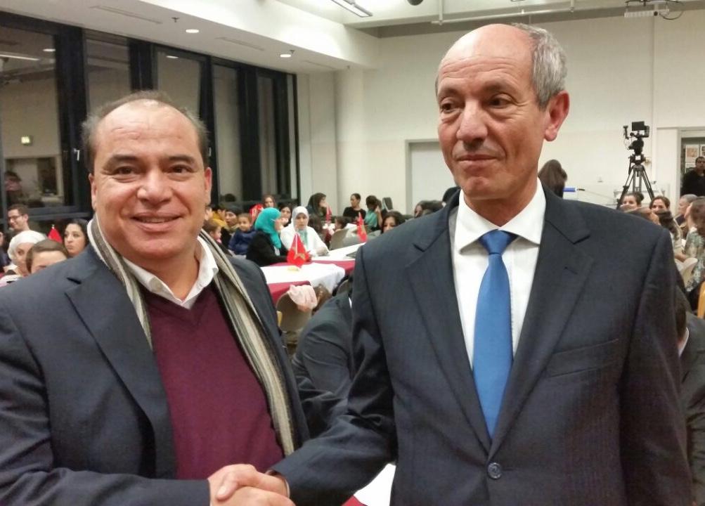 Bouacha with Minister Seddiki